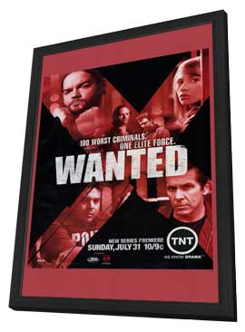Wanted - 11 x 17 TV Poster - Style A - in Deluxe Wood Frame