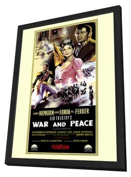 War and Peace - 11 x 17 Movie Poster - Style B - in Deluxe Wood Frame