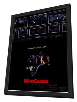 WarGames - 11 x 17 Movie Poster - Style A - in Deluxe Wood Frame