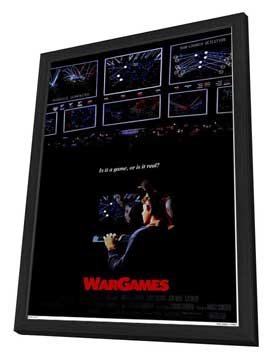 WarGames - 27 x 40 Movie Poster - Style A - in Deluxe Wood Frame