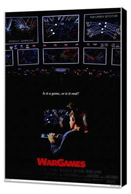 WarGames - 27 x 40 Movie Poster - Style A - Museum Wrapped Canvas