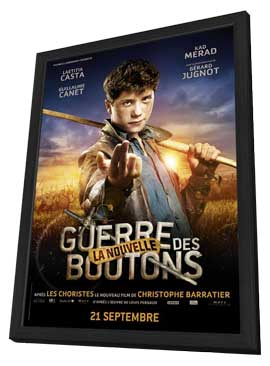 War of the Buttons - 11 x 17 Movie Poster - French Style H - in Deluxe Wood Frame