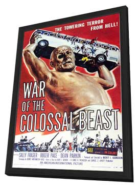 The War of the Colossal Beast - 11 x 17 Movie Poster - Style A - in Deluxe Wood Frame