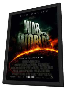 War of the Worlds - 27 x 40 Movie Poster - Style D - in Deluxe Wood Frame