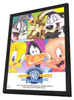 Warner Brothers Looney Tunes Cartoons - 11 x 17 Movie Poster - Style A - in Deluxe Wood Frame