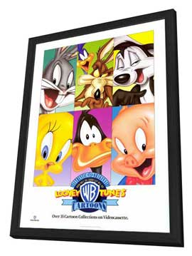Warner Brothers Looney Tunes Cartoons - 27 x 40 Movie Poster - Style A - in Deluxe Wood Frame