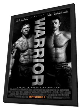 Warrior - 27 x 40 Movie Poster - Style D - in Deluxe Wood Frame