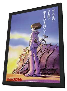 Warriors of the Wind - 11 x 17 Movie Poster - Japanese Style A - in Deluxe Wood Frame