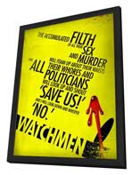 Watchmen - 11 x 17 Poster - Style AN - in Deluxe Wood Frame