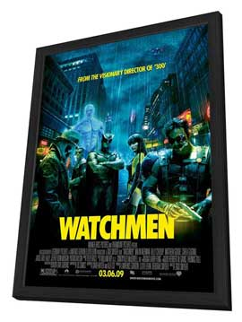 Watchmen - 11 x 17 Movie Poster - Style W - in Deluxe Wood Frame