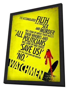 Watchmen - 27 x 40 Movie Poster - Style W - in Deluxe Wood Frame