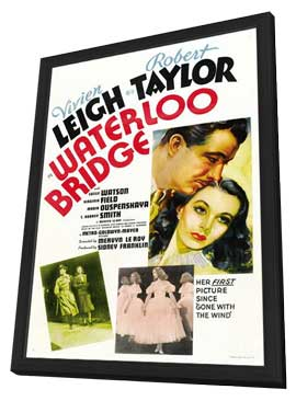 Waterloo Bridge - 11 x 17 Movie Poster - Style B - in Deluxe Wood Frame