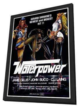 Waterpower - 27 x 40 Movie Poster - Style A - in Deluxe Wood Frame
