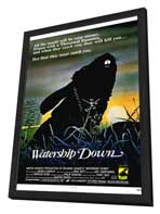 Watership Down - 11 x 17 Movie Poster - Style A - in Deluxe Wood Frame