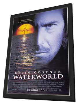 Waterworld - 11 x 17 Movie Poster - Style A - in Deluxe Wood Frame