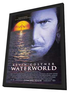 Waterworld - 27 x 40 Movie Poster - Style A - in Deluxe Wood Frame