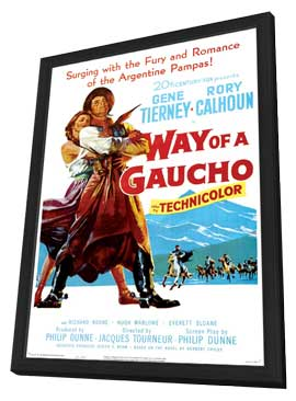 Way of a Gaucho - 11 x 17 Movie Poster - Style A - in Deluxe Wood Frame