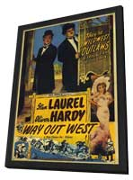 Way Out West - 27 x 40 Movie Poster - Style A - in Deluxe Wood Frame