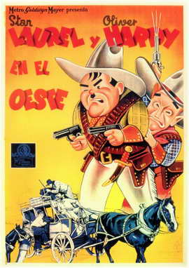 Way Out West - 11 x 17 Movie Poster - Spanish Style A