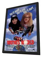 Wayne's World - 27 x 40 Movie Poster - Style A - in Deluxe Wood Frame