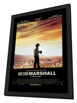 We Are Marshall - 11 x 17 Movie Poster - Style A - in Deluxe Wood Frame