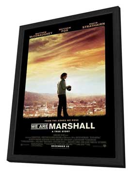 We Are Marshall - 27 x 40 Movie Poster - Style A - in Deluxe Wood Frame