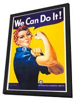 We Can Do It! - 27 x 40 Movie Poster - Style A - in Deluxe Wood Frame