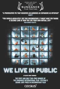 We Live in Public - 43 x 62 Movie Poster - Bus Shelter Style A