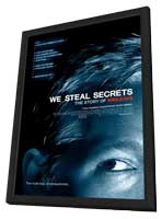 We Steal Secrets: The Story of WikiLeaks - 11 x 17 Movie Poster - Style A - in Deluxe Wood Frame