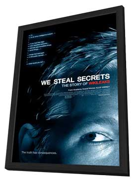 We Steal Secrets: The Story of WikiLeaks - 27 x 40 Movie Poster - Style A - in Deluxe Wood Frame