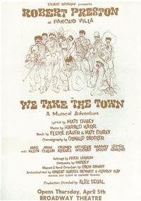 We Take The Town (Broadway) - 11 x 17 Poster - Style A
