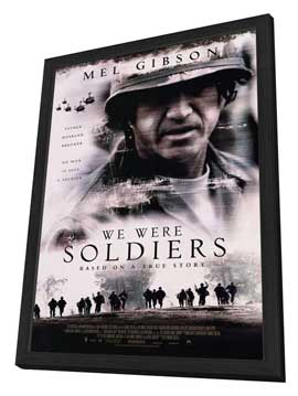 We Were Soldiers - 27 x 40 Movie Poster - Style B - in Deluxe Wood Frame
