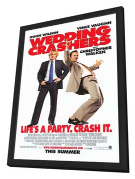 Wedding Crashers - 11 x 17 Movie Poster - Style C - in Deluxe Wood Frame