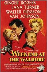 Week-End at the Waldorf - 27 x 40 Movie Poster - Style A