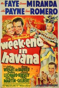 Weekend in Havana - 27 x 40 Movie Poster - Style A