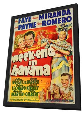 Weekend in Havana - 11 x 17 Movie Poster - Style A - in Deluxe Wood Frame
