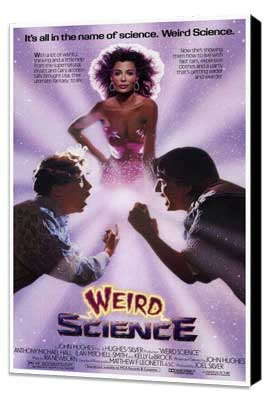 Weird Science - 27 x 40 Movie Poster - Style A - Museum Wrapped Canvas
