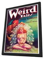Weird Tales (Pulp) - 11 x 17 Retro Book Cover Poster - in Deluxe Wood Frame
