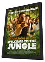 Welcome to the Jungle - 27 x 40 Movie Poster - Style A - in Deluxe Wood Frame