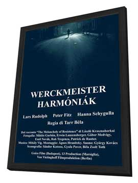 Werckmeister Harmonies - 11 x 17 Movie Poster - Hungarian Style A - in Deluxe Wood Frame