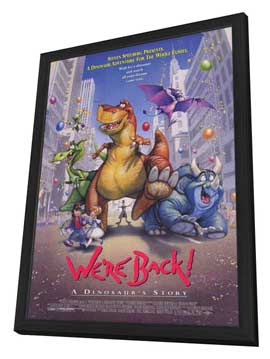 We're Back! A Dinosaur's Story - 11 x 17 Movie Poster - Style A - in Deluxe Wood Frame