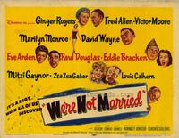 We're Not Married - 22 x 28 Movie Poster - Half Sheet Style A