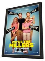 We're the Millers - 27 x 40 Movie Poster - Style A - in Deluxe Wood Frame