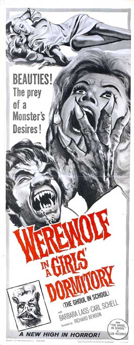 Werewolf in a Girl's Dormitory - 14 x 36 Movie Poster - Insert Style A