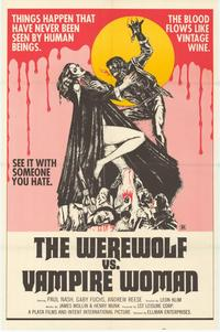 Werewolf vs. the Vampire Women - 11 x 17 Movie Poster - Style A