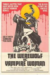 Werewolf vs. the Vampire Women - 27 x 40 Movie Poster - Style A