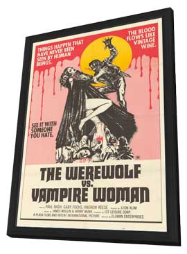Werewolf vs. the Vampire Women - 11 x 17 Movie Poster - Style A - in Deluxe Wood Frame