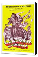 Werewolves on Wheels - 27 x 40 Movie Poster - Style C - Museum Wrapped Canvas