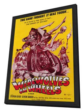 Werewolves on Wheels - 11 x 17 Movie Poster - Style B - in Deluxe Wood Frame