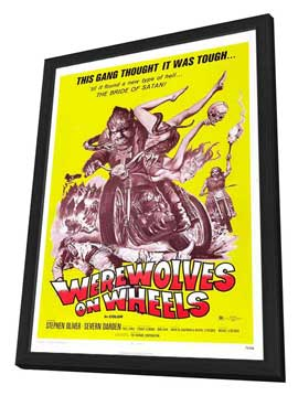 Werewolves on Wheels - 27 x 40 Movie Poster - Style C - in Deluxe Wood Frame